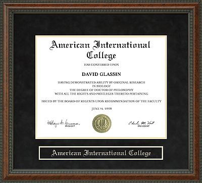 American International College Aic Diploma Frame Wordyisms