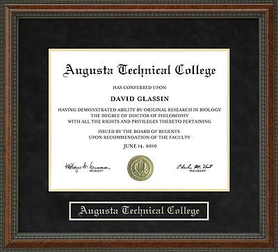 Augusta Technical College Diploma Frame Wordyisms