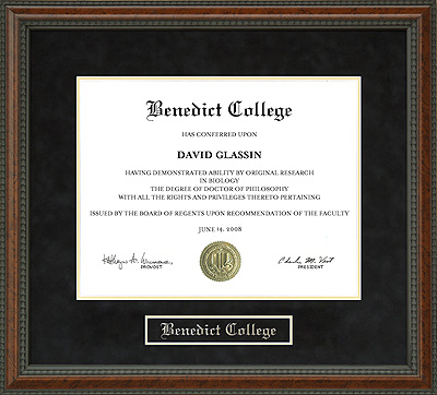 Benedict College Diploma Frame Wordyisms