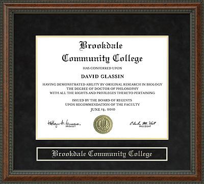 Brookdale Community College Diploma Frame Wordyisms