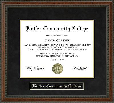 Butler Community College Diploma Frame Wordyisms