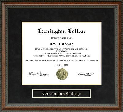 Carrington College Diploma Frame Wordyisms