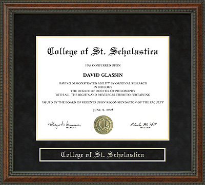 College Of St Scholastica Css Diploma Frame Wordyisms