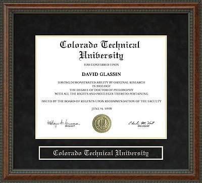 Colorado Technical University Ctu Diploma Frame Wordyisms