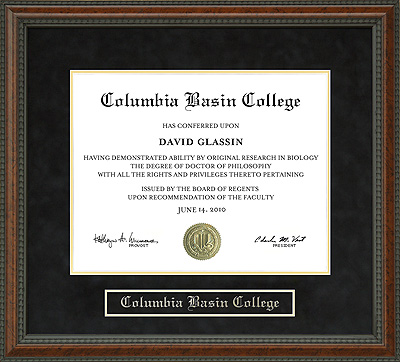 Columbia Basin College Cbc Diploma Frame Wordyisms