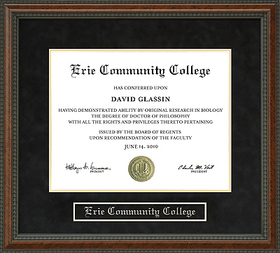 Erie Community College Ecc Diploma Frame Wordyisms