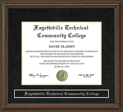 Fayetteville Technical Community College Ftcc Diploma