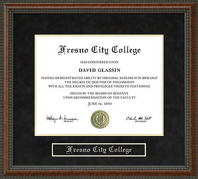 Fresno City College Diploma Frame Wordyisms