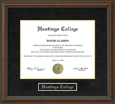 Hastings College Diploma Frame Wordyisms