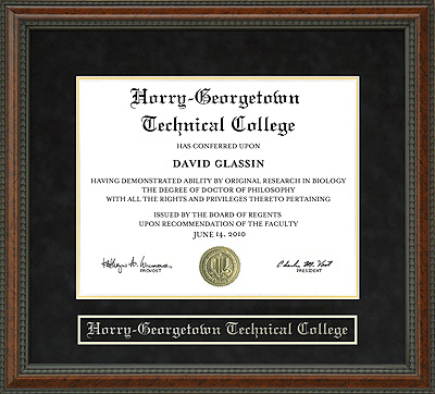 Horry Georgetown Technical College Hgtc Diploma Frame