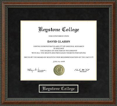 Keystone College Diploma Frame Wordyisms