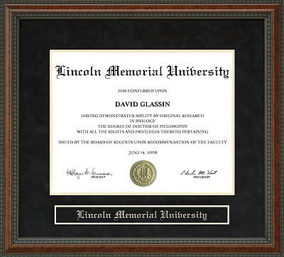lincoln memorial university lmu diploma frame wordyisms