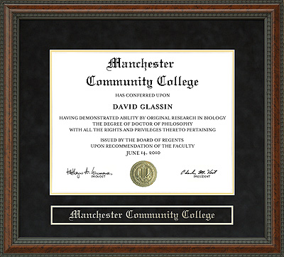 Manchester Community College Mcc Diploma Frame Wordyisms