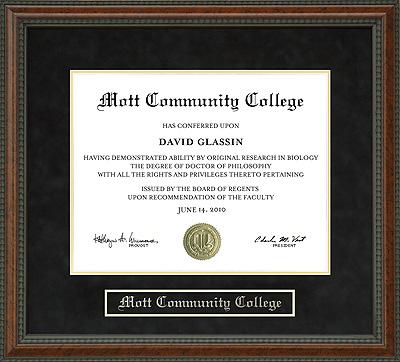 Mott Community College Diploma Frame Wordyisms