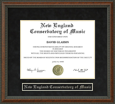 New England Conservatory Of Music Diploma Frame Wordyisms