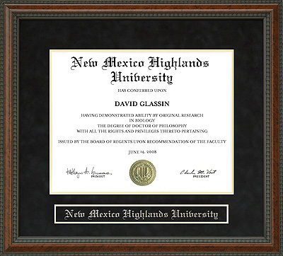 New Mexico Highlands University Nmhu Diploma Frame