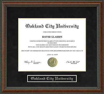 Oakland City University Ocu Diploma Frame Wordyisms