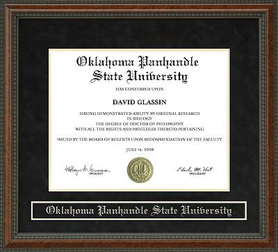 Oklahoma Panhandle State University Opsu Diploma Frame