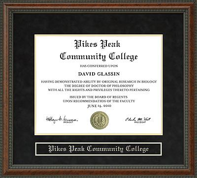 Pikes Peak Community College Ppcc Diploma Frame Wordyisms