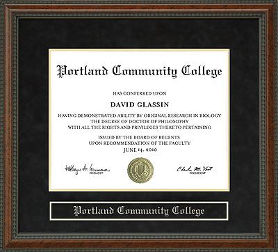 Portland Community College Pcc Diploma Frame Wordyisms