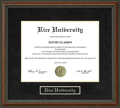 Rice University Diploma Frame Wordyisms