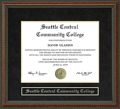 Seattle Central Community College Diploma Frame Wordyisms