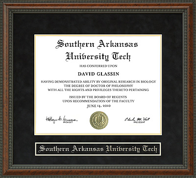 Southern Arkansas University Tech Sau Tech Diploma Frame