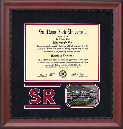 Sul Ross Logo Diploma Frame