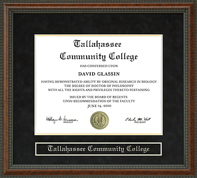 Tallahassee Community College Tcc Diploma Frame Wordyisms