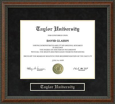 Taylor University Tu Diploma Frame Wordyisms