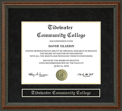 Tidewater Community College Diploma Frame Wordyisms