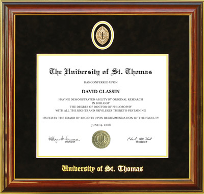 University of St. Thomas Diploma Frame with Medallion