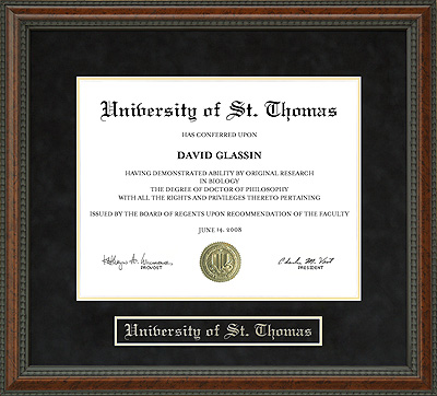 University of St. Thomas (UST) Diploma Frame