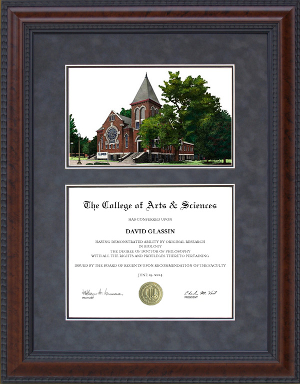 Diploma Frame with University of Alabama, Birmingham (UAB ...