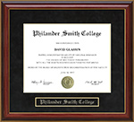 Philander Smith College Mahogany Diploma Frame