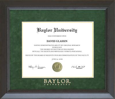 Baylor University Classic Diploma Frame Wordyisms