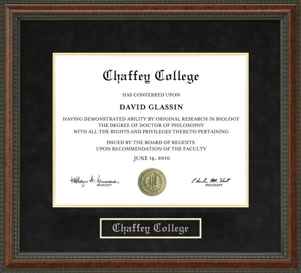 Chaffey College Diploma Frame Wordyisms