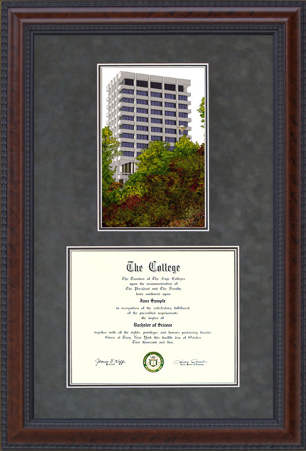 Cal State East Bay (CSUEB) Document Frame with Campus Lithograph ...