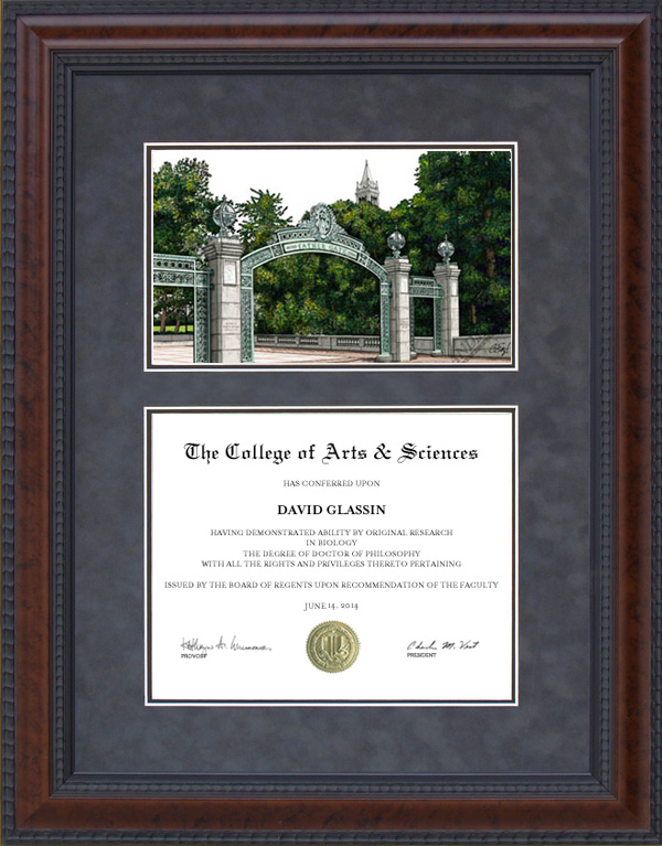 Diploma Frame With Licensed Uc Berkeley Campus Lithograph Wordyisms