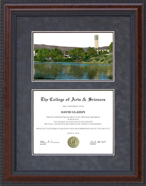 Diploma Frame With Licensed Uc Santa Barbara Ucsb Campus