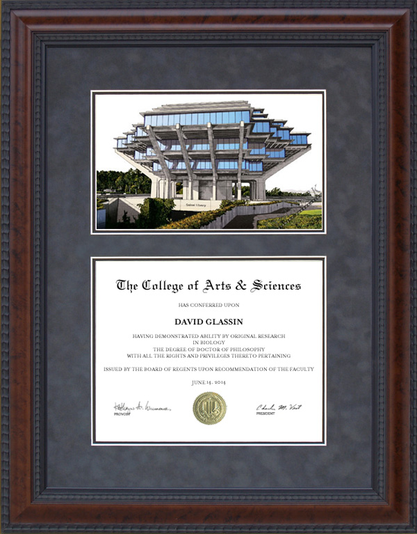 University of California, San Diego (UCSD) Diploma Frames ...