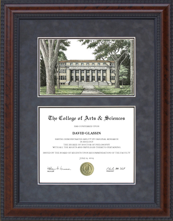 Diploma Frame With Licensed Colorado State Csu Campus