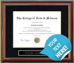 Customizable Diploma Frame - Free Shipping