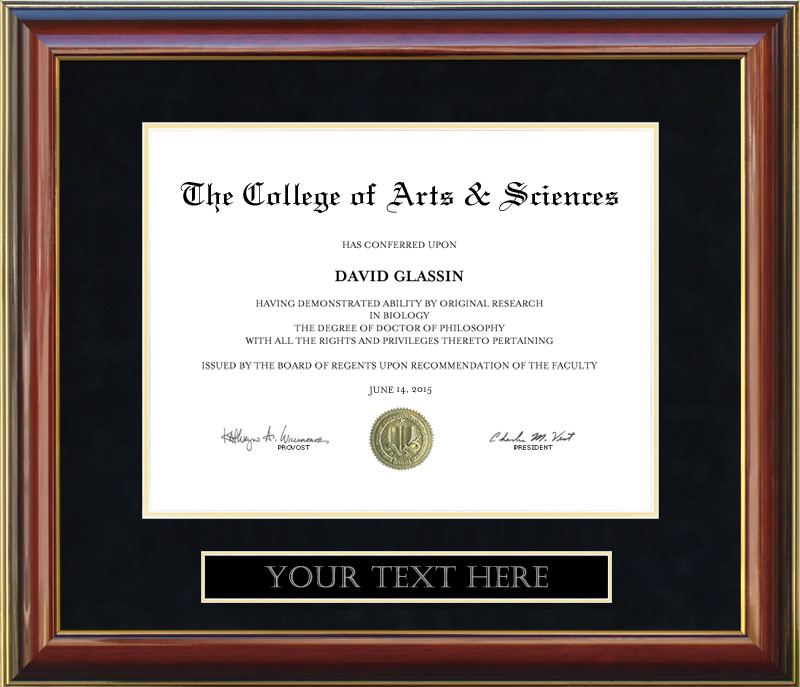 Customizable Diploma Frame - Free Shipping: Wordyisms