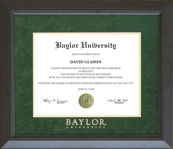 Baylor graduate school dissertation
