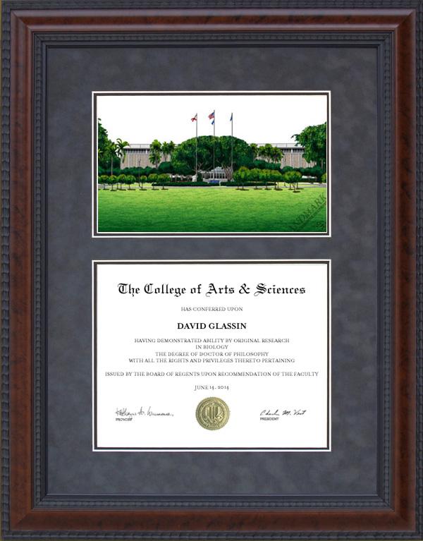 Diploma Frame With Florida Atlantic University Fau
