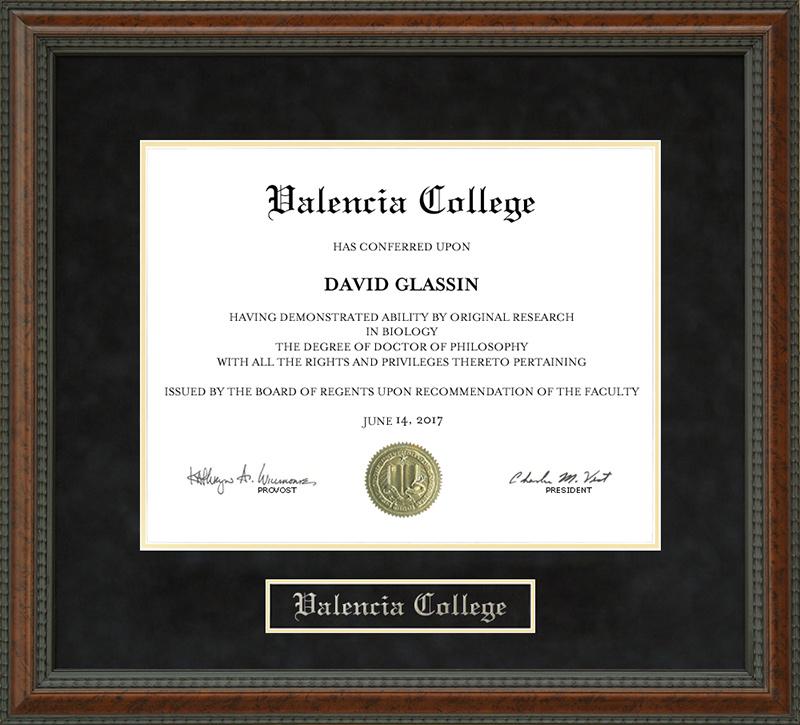 Valencia College Diploma Frame Wordyisms