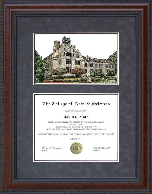 Diploma Frame With Licensed Oglethorpe University Campus