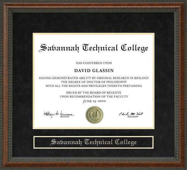 Savannah Technical College Diploma Frame Wordyisms