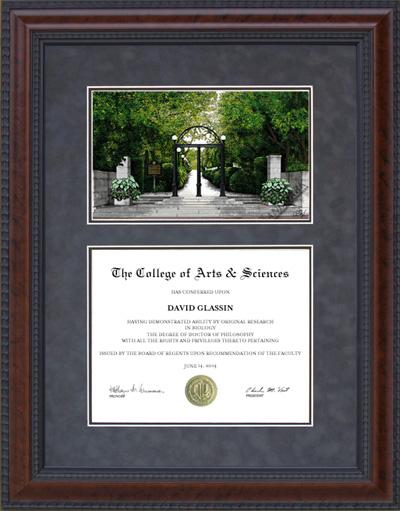 diploma frame uga georgia frames university tech texas lithograph campus wordyisms tx graduation
